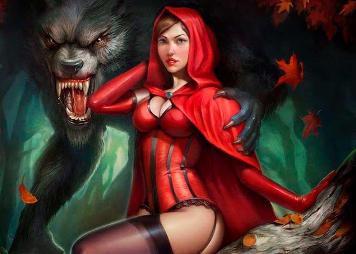 caperucita-y-el-lobo-ilustración-Yigit-Koroglu